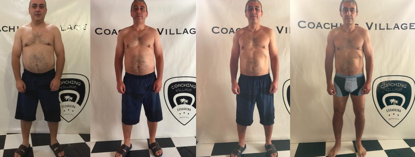 Perte de poids Armand (face) - Coaching Village