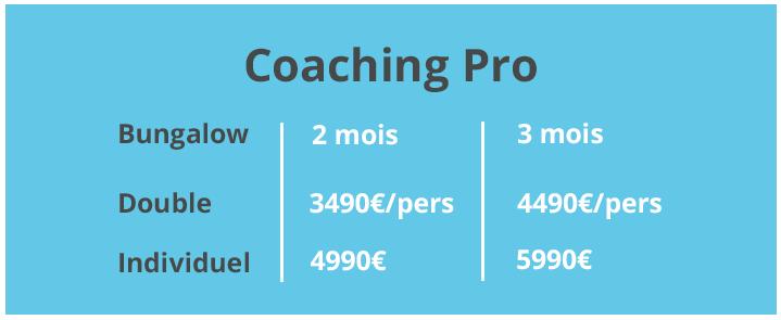 Coaching pro tarifs