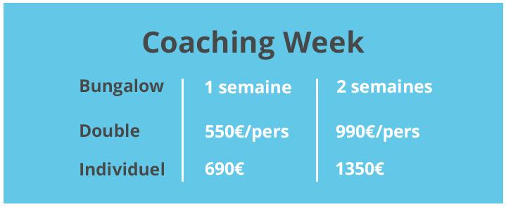 Coaching week tarifs